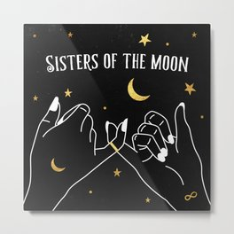 Sisters of The Moon Magical Witch Art Metal Print