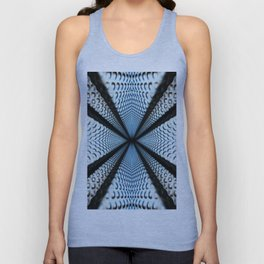 6th dimension Metal abstract obtained through mirroring Unisex Tank Top