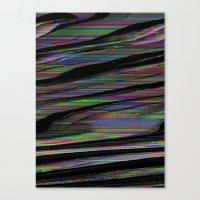 glitch Canvas Prints featuring Glitch by DDANIELL