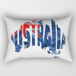 Australia Typographic World Map / Australia Typograpy Flag Map Art Rectangular Pillow