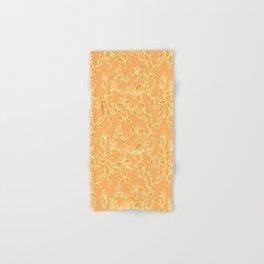 Orange Floral Pattern Hand & Bath Towel