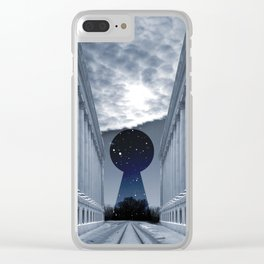 Keyhole to Infinity Clear iPhone Case