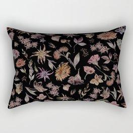 Botanical Study- Dark Colorway Rectangular Pillow