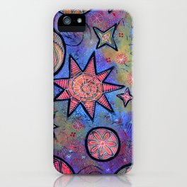 Sending Love and Healing Light Celestial Design iPhone Case