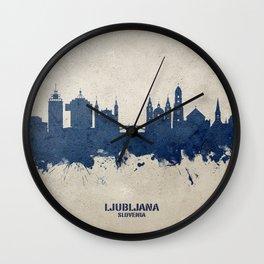 Ljubljana Slovenia Skyline Wall Clock