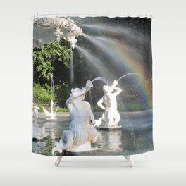 Savannah's Forsyth Fountain Shower Curtain