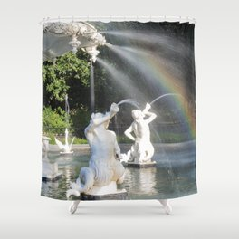 Savannah's Forsyth Fountain Shower Curtain