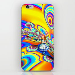 Alice in Fractal Land by Amanda Martinson iPhone Skin