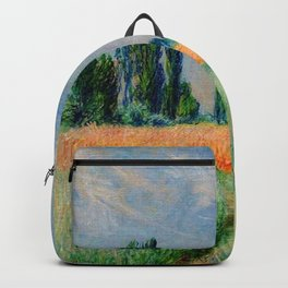 The Wheat Field - Claude Monet 1881 Backpack