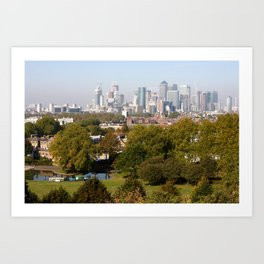City of London from Greenwich Hill Art Print