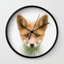 Baby Fox Wall Clock