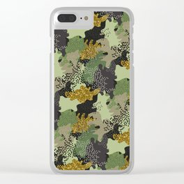Modern Military Army Camouflage Pattern Clear iPhone Case