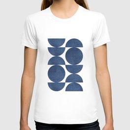 Blue navy retro scandinavian T-shirt