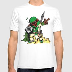 DJ Boba Fett Mens Fitted Tee White MEDIUM