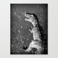 t rex Canvas Prints featuring t-rex  by Bunny Noir