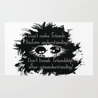 friendship Area & Throw Rugs featuring Friendship by Cindys