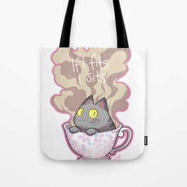 Cat in a cup Tote Bag