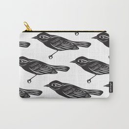 Paper Bird Cutout Carry-All Pouch