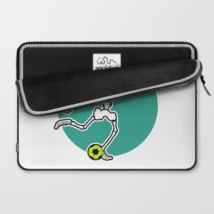 Calavera Soccer Laptop Sleeve