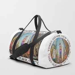 Times Square Hustle (white poster edition) Duffle Bag