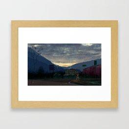 Lucca 6a.m. Framed Art Print