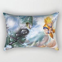 Goku vs celula Rectangular Pillow