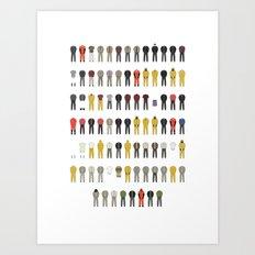 Walter White's Wardrobe - Season 4 Art Print