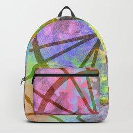 Geometric Sun Circle Backpack