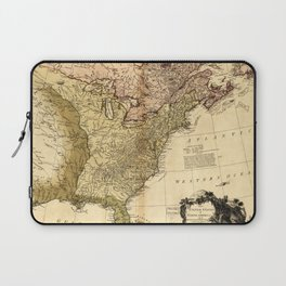 The United States of North America Map (1784) Laptop Sleeve