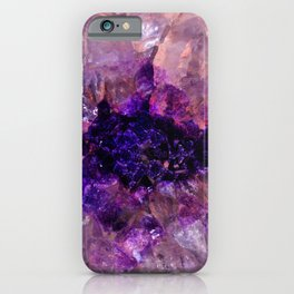 """Purple and Violet Agate Crystal"" iPhone Case"