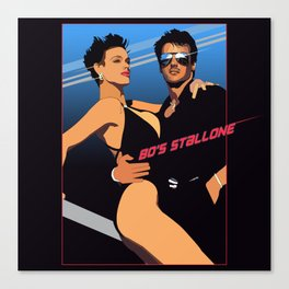 80s Stallone synthwave Canvas Print