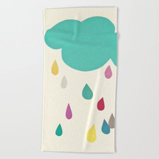 Sunshine and Showers Beach Towel