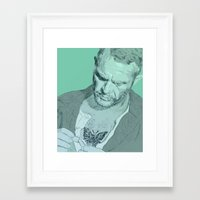 steve mcqueen Framed Art Prints featuring Papillon - Steve McQueen by Tom Ralston