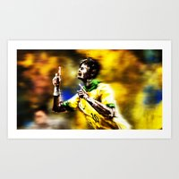 neymar Art Prints featuring Neymar by Joaquim Meira