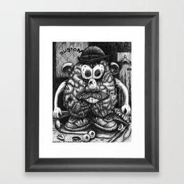Mr. Brainhead Framed Art Print