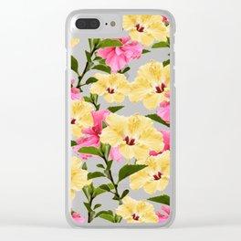Lush Hibiscus Clear iPhone Case