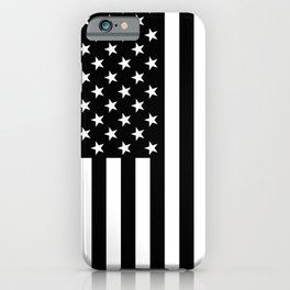 Black and White American Flag iPhone Case