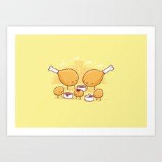 Chicken nuggets Art Print