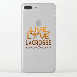 LIVE - LOVE - LACROSSE Clear iPhone Case