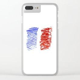 Flag of France 12- France, Français,française, French,romantic,love,gastronomy Clear iPhone Case