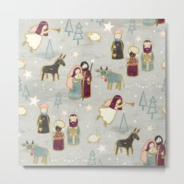 Nativity - the Birth of Jesus Metal Print
