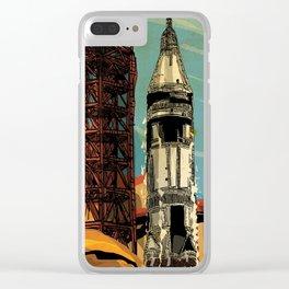 Apollo 11 NASA rocket 50th anniversary Clear iPhone Case