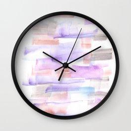 170527 Back to Basic Pastel Watercolour 2 Wall Clock