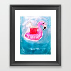 Flamingo Pool Party Framed Art Print