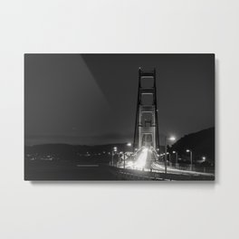 Golden Gate Bridge at Night Metal Print