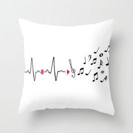 Musical pulse Throw Pillow