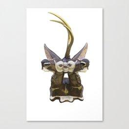 Trophy Head (Chocolate5OcularGoldenUniHorn) Canvas Print