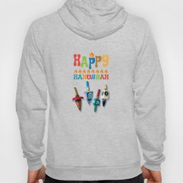 Happy Hanukkah Dreidels Hoody