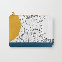 VESSEL - Floral Ink in Peacock & Mustard - Cooper and Colleen Carry-All Pouch