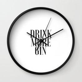 Kitchen Print Printable Art Alcohol Gifts Party Decor Bar Decor Bar Art Print Inspirational Poster Wall Clock